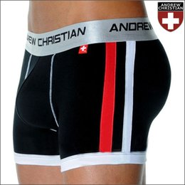 Wholesale ANDREW CHRISTIAN men s underwear Boxer Shorts Sexy Modal Underpants colors
