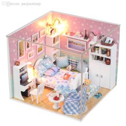 2016 dollhouse furniture bedroom wholesale new wooden doll house bedroom furniturelight affordable dollhouse furniture