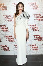 Wholesale Angelina Jolie Paria premiere Evening Gown Beauty Sexy Celebrity Red Carpet Dresses Evening Dresses