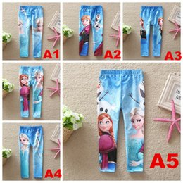 Wholesale Baby girlsbaby girls frozen leggings princess Elsa Anna long pants spring autumn children tights snow queen cosplay pants trousers