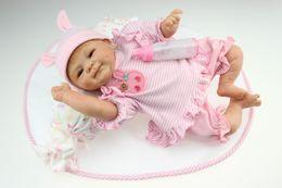 Wholesale 18 quot cm reborn baby doll soft silicone vinyl gentle touch newborn NPK7011Q