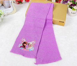 Wholesale NEW Children s knitting frozen Scarf Cotton Flax Baby warm wool scarf free shpping