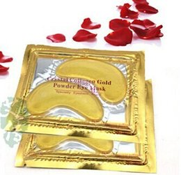 Wholesale 500pairs Crystal Collagen Gold Powder Eye Mask Crystal Eye Mask Top Quality