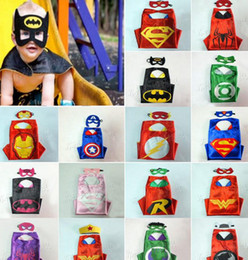 Wholesale Cheaper new superhero with matched mask superman spiderman batman flash Captain America ironman wonderwoman thor spidergirl robin hulk