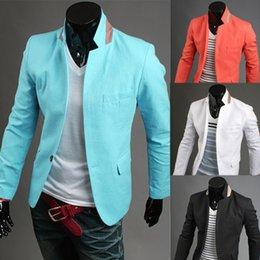 Wholesale 2014 New Jeansian Mens Designer Slim Fit Jacket Blazer Manteau style XS S M L