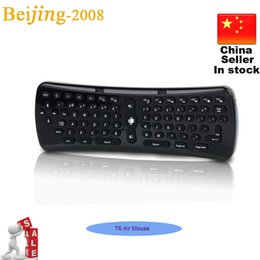 Mini teclado inalámbrico T6 Fly Air ratón de 2.4GHz Mini Gaming Keyboard para Android TV Box Laptop Tablet Mini PC 002961