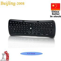 Мини Беспроводная клавиатура T6 Fly Air Mouse 2.4Ghz Мини игровой клавиатуры для Android TV Box ноутбуков Tablet PC Mini 002961