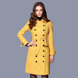 Discount Yellow Pea Coat | 2017 Yellow Pea Coat on Sale at DHgate.com