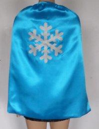 Wholesale Fashion Hot Frozen Elsa Anna Kids Cartoon Cape Kids Capes Halloween Christmas Children Capes