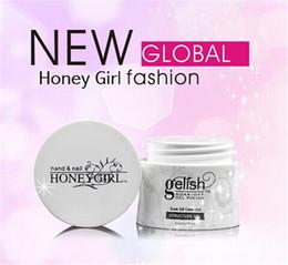 Os mais recentes honeygirl Gelish LED UV Gel polonês Mergulhe off Builder Estrutura gel Fundação gel unhas de gel Limpar Pink Branco Nail Art 30ml uma garrafa