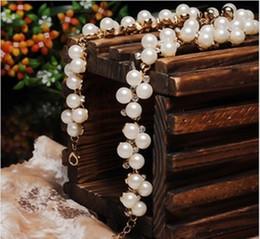 Wholesale Pearls Stunning Wedding Bridal Accessories Shoulder Jewelry Necklace Stunning Wedding dresses Wedding Pieces WWL