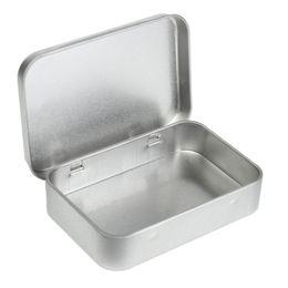 Wholesale Survival Kit Tin Higen Lid Small Empty Silver Flip Metal Storage Box Case Organizer For Money Coin Candy Keys