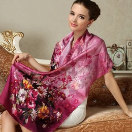 Wholesale 2015 New Floral Silk Scarf Wraps Infinity Long Scarves Shawls For Womens Ladies Best Gifts