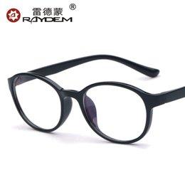 Wholesale TR90 glasses authentic Korean men and women retro plain mirror glasses frame myopia frames tide Optical Frame Full Rim