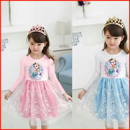 Wholesale New Arrival Dairy queen Baby Girl Princess Dress Cartoon Pink White Toddler Dresses Age Elsa Kids Dresses Cartoon Clothing