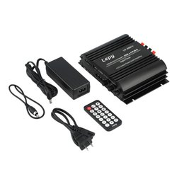 12V 3A Мини аудио усилитель мощности Удаленный 4-канальный Hi-Fi стерео тяжелый усилитель баса Главная Радио MP3-динамик для автомобиля MP4 США Plug