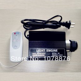 Wholesale-Free shipping 16W Multi-Colored Fibre optic Light Engine DIY  Ceiling Kit Light Engine with remote control