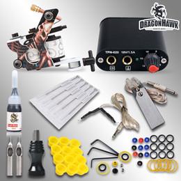 Wholesale Tattoo Kit Machine Gun Ink Power Supply Needles Grip Tips MGT GD