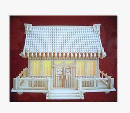 2015 Free Shipping 3d Japanese Customs House 107 Woodcraft Construction Kit Wood Model Handmade Wooden Toysfor Sale