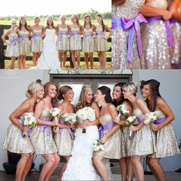Pink Glitter Bridesmaid Dress