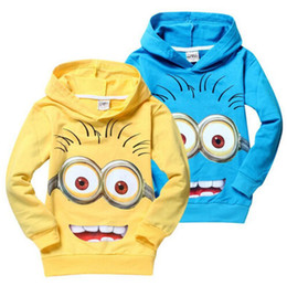 Wholesale 2015 despicable me minions boys clothes girls nova shirts child Spring hoodies Tops Tee Baby Sweatshirts Coats Spring Autumn Kids Clothing