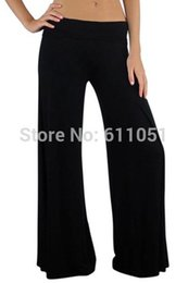 Wholesale 100 Pieces a New Women s Loose Wide Leg Palazzo Modal Flared Pants Trousers