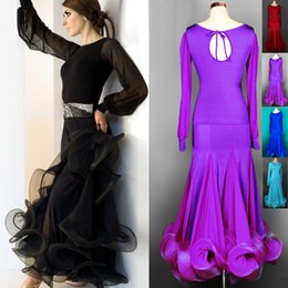Wholesale 2015 New Ballroom Waltz Dresses Top Skirt Lady Ballroom Dance Wear colors Vestidos De Festas Marine Costumes For Women DQ5038