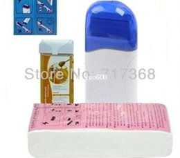 Wholesale Pro Roll On Refillable Depilatory Heater Wax Waxing Paper Hair Removal Set HN HairRemoval