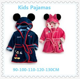 Wholesale 2 colors Children Pajamas Robe New Kids Micky Minnie Mouse Bathrobes Baby Cartoon Home Wear