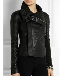 Womens Black Leather Bomber Jacket Suppliers   Best Womens Black ...