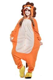 Wholesale 2016 New Hot sexy Unisex Adult Unisex Cut Lions Pyjamas Kigurumi Halloween Onesie Costume Soft Homewear