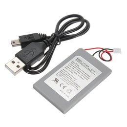 1800mAh remplacement de la batterie d'alimentation + cordon USB de données Charger Cable Pack pour Sony pour Playstation 3 PS3 Controller