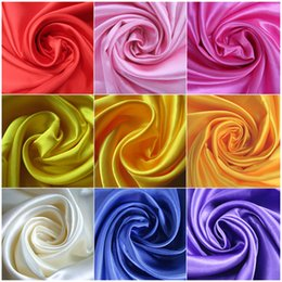 Wholesale yards Width CM quot Satin Fabric Decoration Solid Color Cloth Performance Clothing Fabrics Clothing Lining