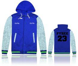 Wholesale Frete grátis homens manga longa jaqueta de outwear aptidão estilo forma magro Pyrex jaquetas de basquete camisas varejo tamanho S XL
