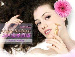 Wholesale 2015 Beauty Bar Energy Beauty Bar K Gold Pulse Firming Massager Facial Roller Massage Facial Body Massage Relaxation With Boxes