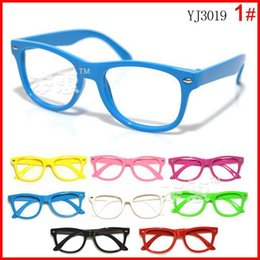 Wholesale 2015 New arrival children candy colorful glasses frame boys girls no lens glasses kids cool spectacle frames popular eyewear mixed colors