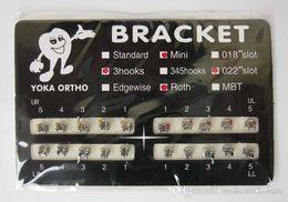 Wholesale Dental Orthodontic ROTH Bracket Preadjusted Bracket Orthodontic Materials Metal Orthodontic High Quality Bracket for Sale