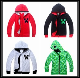 Wholesale DHL style MINECRAFT Hoodies autumn winter big boys jackets boy s fashion sweatshirts kids zipper coat children boy clothing