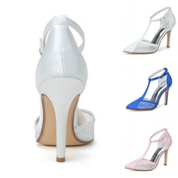Wholesale Royal Blue Pink Pointed Toe high Heel Sandals Custom Make fashion Women s Prom Party Evening Dress Wedding Bridal Shoes