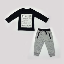 Wholesale New Arrival Baby Boys Clothes Kid Autumn Casual Long Sleeve Sets Top tshirt Pant Children Christmas Boutique Outfit Clothing Seals168 FS B83