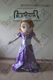 Wholesale POLE STAR MASCOT COSTUMES frozen princess sofia mascot costumes purple dress princess costumes