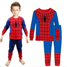 Wholesale 1 Baby Boys Spiderman Iron Man Toddler Pajamas Pyjama Sets Nightwear Homewear DH04