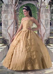 Wholesale 2015 Stunning Ball Gown Quinceanera Dresses Sweetheart Luxury Crystal Sequined Debutante Gowns Floor Length bridal gown
