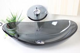 Gray Glass Tempered Glass Vessel