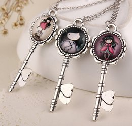 Wholesale 2014 Gorjuss Key Statement Necklaces Kids For Christmas Jewelry styles Choose