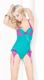 Wholesale F4107 Green teddy lingerie sexy lingerie one piece teddy