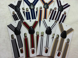 Wholesale 1 years kids Y back elastic stripes suspenders child braces