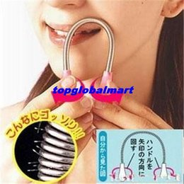 Wholesale Fashion Portable Face Hair Removal Device Pull Face Neck Delicate Hair Shaver Beauty Micro Facial Spring Epilator Depilation Shaving M31 TMQ
