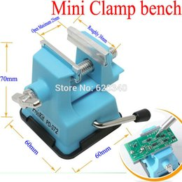 Wholesale 2015 Mini Table Vice Adjustable Max mm Plastic Screw Bench Vise for DIY Jewelry Craft Modeling Work Lock Fixed Repair Tools