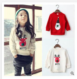 Wholesale 2 Colors Children s Soft T Shirt Cartoon Christmas Baby Clothes Top quality Snowman Girls Long Sleeve Clothing Tops Christmas Gifts R1300